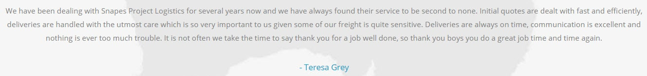 deliveries quote
